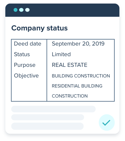 An example of a company status report in Indonesia